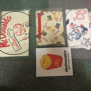 送料無料 マクドナルド BIG SMILE BAG 商品券なし 未開封 グッズのみ McDonald 50周年 福袋 バッグ ハンディファン タオル ポーチ マック