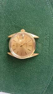 モデル名 ロレックス 1550/5 キャップゴールド/金張り オイスターパーペチュアルデイト メンズ アンティーク