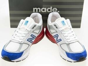 新品/NEW BALANCE/ニューバランス/M990NB5/MADE IN USA/米国製/星条旗/GREY/WHITE/RED/BLUE/グレー/ホワイト/レッド/ブルー/ワイズD/27.0cm
