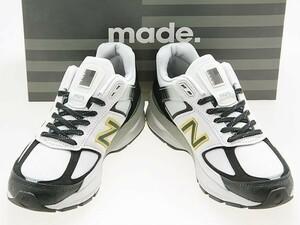 新品/NEW BALANCE/ニューバランス/M990SB5/MADE IN USA/米国製/LIGHT GREY/SILVER/BLACK/ライトグレー/シルバー/ブラック/ワイズD/25.0cm
