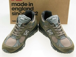 新品/NEW BALANCE/ニューバランス/M991FDS/MADE IN ENGLAND/英国製/KHAKI/SAND/BLACK/カーキ/サンド/ブラック/ワイズD/26.0cm