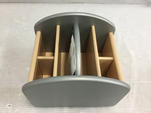 回転式 卓上収納ボックス 多機能 小物入れ メガネ収納 リモコンラック [複数購入OK] FK