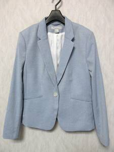 美品 H&M テーラードジャケット ブルー系 42 東9502