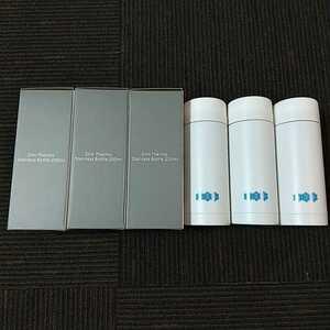 3個セット【匿名配送 送料無料】新品未使用 スリムサーモステンレスボトル 200ml 水筒 携帯用 魔法瓶 保冷 保温 白 ホワイト 0.2L 東京水