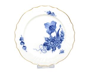 17cm ロイヤルコペンハーゲン ブルーフラワー プレート 1625 金彩ライン ROYAL COPENHAGEN ケーキ皿