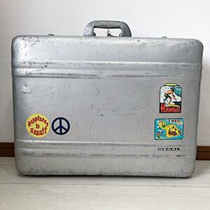希少 50s ビンテージ HALLIBURTON ハリバートン アルミ スーツ ケース アタッシュ USA アメリカ 旅行 トラベル バッグ バック レア 50年代