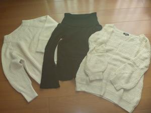 ①ストロベリーフィールズ+オゾック+FREEZ'S PHRASE/長袖セーター3点セット
