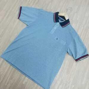 51ftnn】美品 Munsingwear ポロシャツ ゴルフウェア マンシングウェア 半袖シャツ 夏物 薄地 日本製 サイズM メンズ グレー GOLF 刺繍