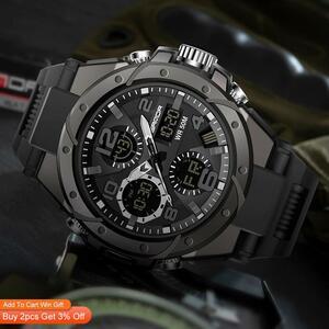 【最安値宣言】【目立った傷や汚れなし】Sanadトップブランドの高級男性の軍事スポーツ腕時計5ATM防水クォーツ時計レロジオmasculino 6008