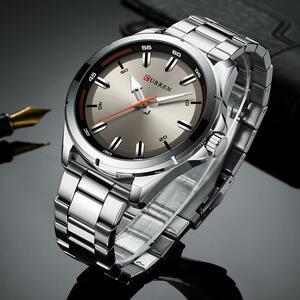 【中古売ります】【最安値に挑戦】カレンステンレス鋼メンズ腕時計シンプルなクォーツ腕時計ミリタリー軍時計男性レロジオのmasculino