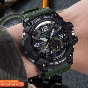 【中古売ります】【最安値に挑戦】三田759スポーツメンズ腕時計トップブランドの高級軍クォーツ時計防水s衝撃腕時計レロジオmasculino