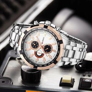 【中古売ります】【最安値に挑戦】カレンウォッチメンズ陸軍軍人腕時計時計男性クォーツ時計レロジオmasculino horloges mannens saat