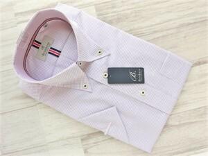 210719.083 Brinkers ブリンカーズ ボタンダウン半袖ドレスシャツ ホワイト レッドグラフチェック S(38-半) 形態安定 綿100%