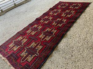 185×78cm アフガニスタン・ヘラート・アドラスカン産 絨毯 ラグ アンティーク家具 マジック カーペット 04AMBRM210719001D