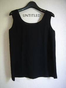 UNTITLED/アンタイトル タンクトップ ノースリーブブラウス 黒 フォーマル サイズ2
