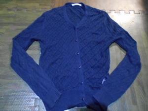 ★PARICI★紺色のカギ編みカーディガン 送料215円 used