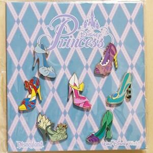 海外 限定 日本 未発売 ディズニー プリンセス ヒール 靴 ピンバッジ ピンバッチ 7点 セット