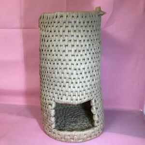 猫ちぐら ハンドメイド 紙紐 1点物 ねこちぐら キャット ペット用品 ねこベッド ねこハウス 紺屋商事株式会社の紙紐を使用 i07