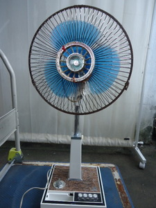 【S-125】希少 昭和レトロ 三菱 扇風機 3枚羽根 R30-WBM レトロ扇風機 アンティーク お座敷扇 直接引き取り可能