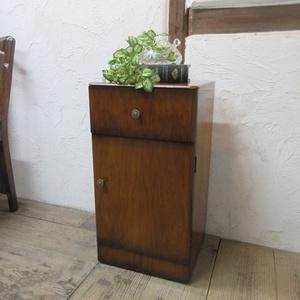イギリス アンティーク 家具 サイドキャビネット ナイトスタンド 収納 飾り棚 木製 ウォルナット 英国 SMALLFUNITURE 6984b