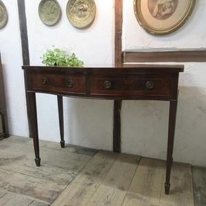 イギリス アンティーク 家具 ホールテーブル サイドボード 飾り棚 収納 木製 マホガニー 英国 SIDEBOARD 6022c