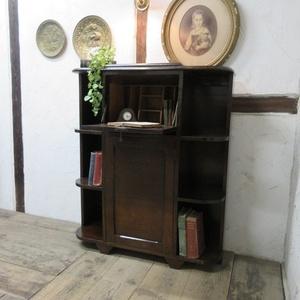 イギリス アンティーク 家具 サイドバイサイド ビューロー ディスプレイ 飾り棚 収納 木製 オーク 英国 BUREAU 6057c