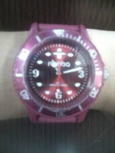 原宿で大人気アンティークダメージファッション腕時計(男女兼用おしゃれピンク)アウトドア スポーツに最適