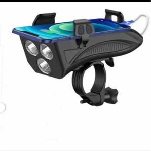 【 進化版】LED自転車ライト ベル付き USB充電式 4in1機能搭載 4000mAh大容量 バイクライトセット IPX5防水