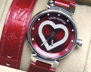 中古 良品 LOUIS VUITTON ルイヴィトン タンブール ポムダムール ダイヤ レディース 腕時計 クォーツ Q1314