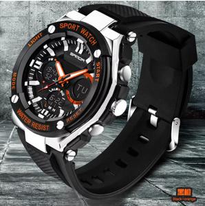 【スポーツメンズ腕時計】男性 SANDA デジタル 多機能 ストップウォッチ 5色 アラーム 24時間形式 防水
