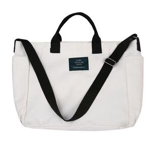 トートバッグ(ホワイト)白 キャンバス 鞄 バッグ レディース・メンズ・兼用