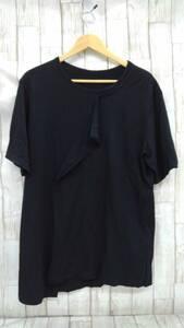 T793-169☆Ground Y ヨウジヤマモト ロングTシャツ サイズ:3 ブラック