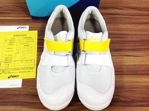 【WH-9824】 新品未使用 asics アシックス 安全靴 ウィンジョブ CP20E プロスニーカー 25.5㎝ ホワイト×ホワイト
