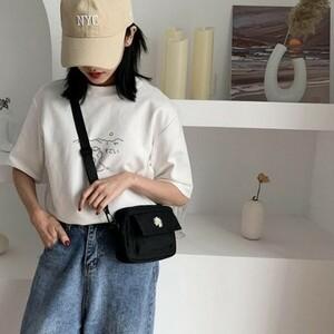 韓国ファッション レディースショルダーバッグ ミニバッグ ボディバッグ ポーチ ブラック