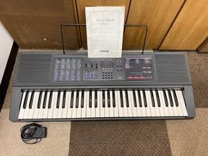 【11111】CASIO CTK-550 カシオ キーボード 鍵盤 楽器 ソングブック付 通電確認済み