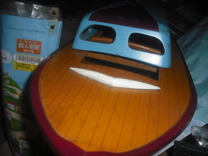 ♪♪ジャンク塗装済み完成木製ジャンクボート 重さ約1kg劣化あり♪♪