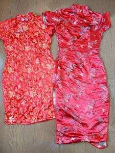 チャイナドレス コスプレ 衣装 2着 セット