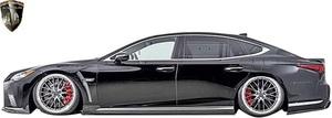 【M's】レクサス 50系 LS 後期 version-L / I-package (2020.11-) AIMGAIN 純VIP EXE サイドスポイラー 左右 // FRP エイムゲイン エアロ