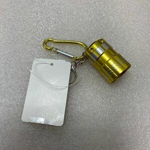 【未使用】ミニ9LEDライト カラビナ付 アルミニウム合金 JANコード:4534253323648 電池(CR2032 2個)