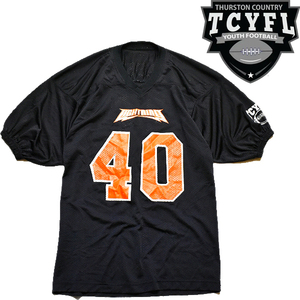 1点物◆TCYFL黒フットボールTシャツ古着メンズLレディースOKアメカジ90sストリート/スポーツMixアメフトTビッグサイズXLビンテージ513914