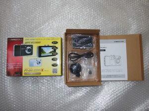 中古品ドライブレコーダーFIRSTEC FT-DR ZERO Ⅹ 2.7型液晶モニター/HD100万画素/Gセンサー/赤外線LED/4GBカード付 欠品部品あり
