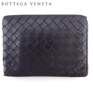 【ラスト1点】 ボッテガ ヴェネタ 二つ折り 財布 ミニ財布 メンズ 113112 イントレチャート BOTTEGA VENETA 中古 F1692