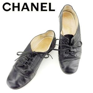 【ラスト1点】 シャネル スニーカー シューズ 靴 ♯36 ココマークステッチ レースアップ CHANEL 中古 T7011