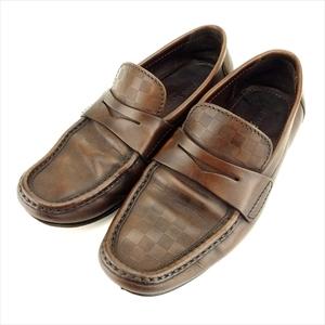 【ラスト1点】 ルイ ヴィトン ローファー シューズ 靴 #6 ダミエ Louis Vuitton 中古 T9399