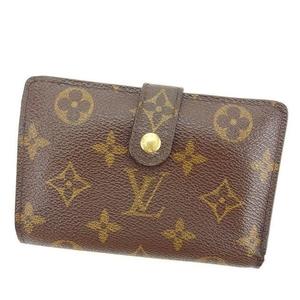 【ラスト1点】 ルイヴィトン がま口財布 二つ折り財布 ポルトモネビエヴィエノワ M61663 モノグラム Louis Vuitton 中古 T15808