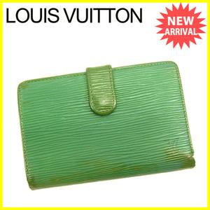 【ラスト1点】 ルイ ヴィトン がま口財布 二つ折り ポルトモネビエヴィエノワ M63244 エピ Louis Vuitton 中古 D1405