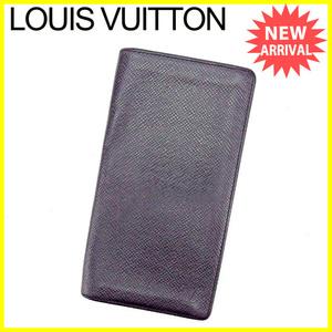 ルイ ヴィトン 長札入れ 二つ折り札入れ 長財布 財布 ポルトシェキエ カルトクレディ M30412 タイガ LOUIS VUITTON 中古 T2680