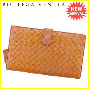 【ラスト1点】 ボッテガ ヴェネタ ラウンドジップ長財布 長財布 財布 イントレチャート Bottega Veneta 中古 T2869