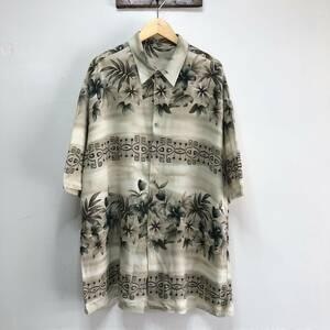 USA古着 ヴィンテージ レーヨン アロハシャツ メンズXL程度 くすみカラー ハワイアンシャツ ビッグサイズ アメリカ古着