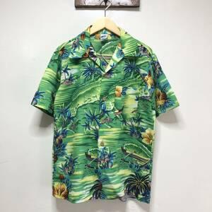 USA古着 ヴィンテージ 開襟 アロハシャツ ハワイアンシャツ 半袖シャツ オープンカラー ポリエステル メンズS程度 アメリカ古着